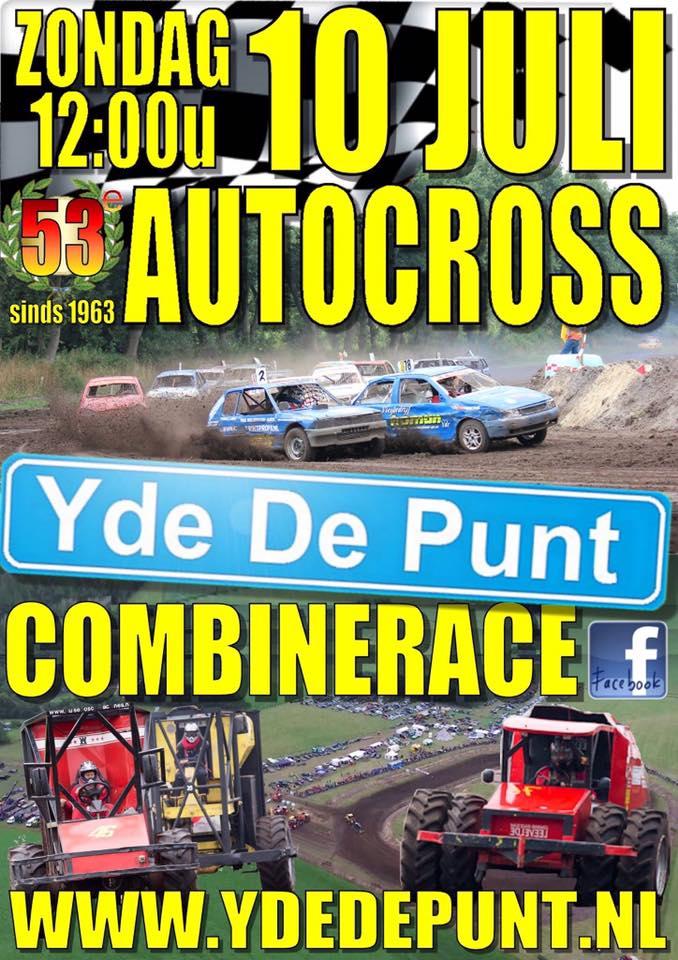 Poster autocross en combinerace 2016