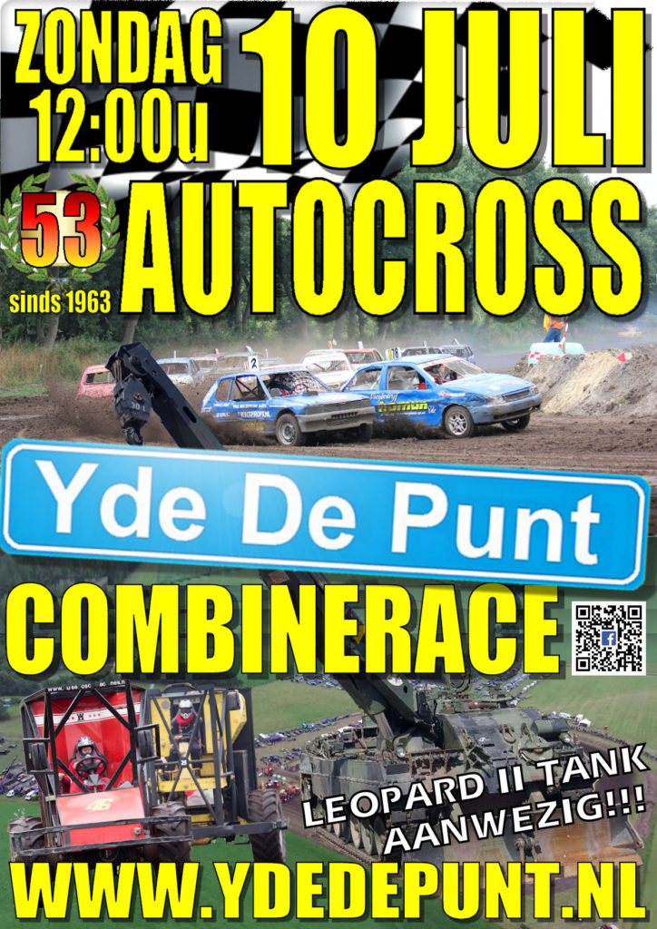 Poster Autocross en Combinerace Yde De Punt 2016